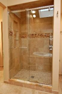 hydroslide showers   raleigh glass co. inc.